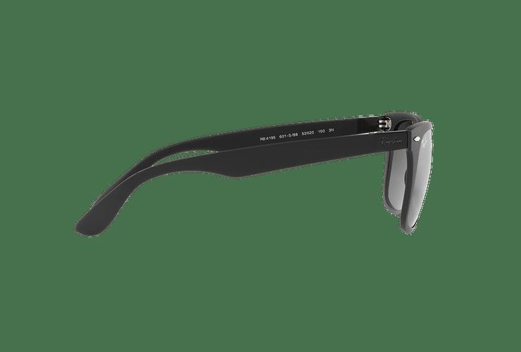 Ray Ban Wayfarer Liteforce Matte Black lente Silver Gradient Mirror cod. RB4195 601S88 52 - Image 9