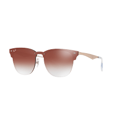 Ray Ban Blaze Clubmaster Brusched Copper lente Clear Gradient Red Mirror cod. RB3576N 9039V0 47