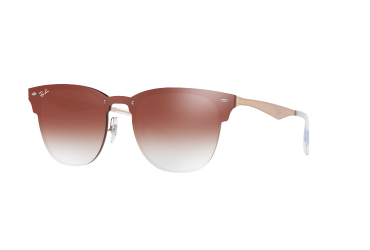 Ray Ban Blaze Clubmaster Brusched Copper lente Clear Gradient Red Mirror cod. RB3576N 9039V0 47 - Image 1