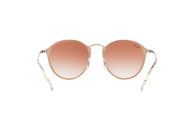 Ray Ban Blaze Round Copper lente Clear Gradient Red Mirror cod. RB3574N 9035V0 59 - Image 6