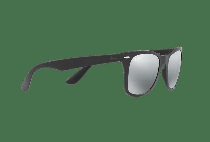 Ray Ban Wayfarer Liteforce Matte Black lente Silver Gradient Mirror cod. RB4195 601S88 52 - Image 10