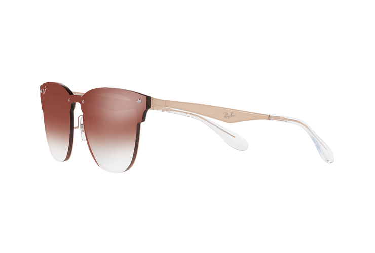 Ray Ban Blaze Clubmaster Brusched Copper lente Clear Gradient Red Mirror cod. RB3576N 9039V0 47 - Image 2