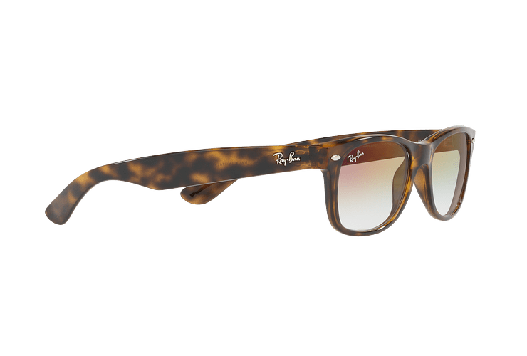 Ray Ban New Wayfarer Havana lente Clear Gradient Violet cod. RB2132 710/S5 55 - Image 10