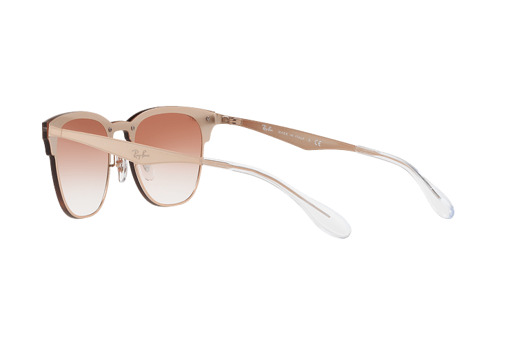 Ray Ban Blaze Clubmaster Brusched Copper lente Clear Gradient Red Mirror cod. RB3576N 9039V0 47 - Image 4
