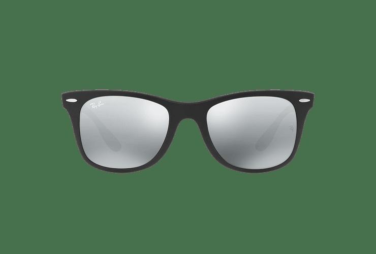 Ray Ban Wayfarer Liteforce Matte Black lente Silver Gradient Mirror cod. RB4195 601S88 52 - Image 12
