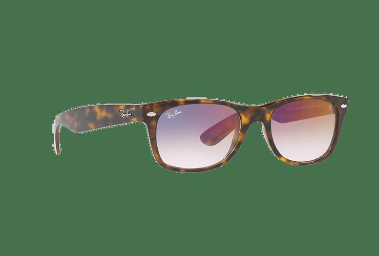 Ray Ban New Wayfarer Havana lente Clear Gradient Violet cod. RB2132 710/S5 55 - Image 11