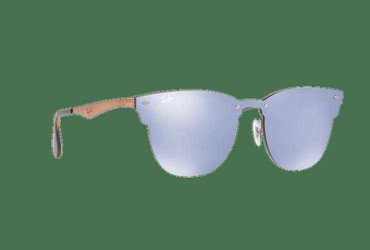 Ray Ban Blaze Clubmaster Brusched Copper lente Blue / Silver Mirror cod. RB3576N 90391U 47 - Image 11