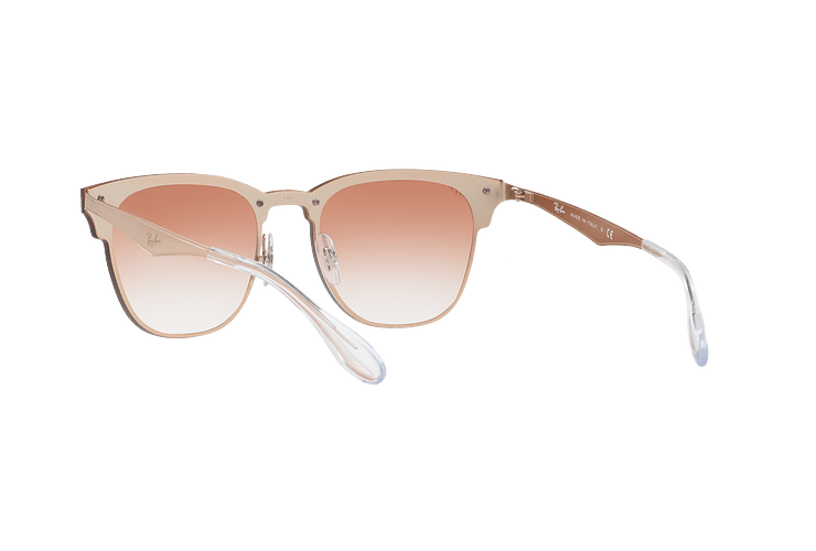 Ray Ban Blaze Clubmaster Brusched Copper lente Clear Gradient Red Mirror cod. RB3576N 9039V0 47 - Image 5