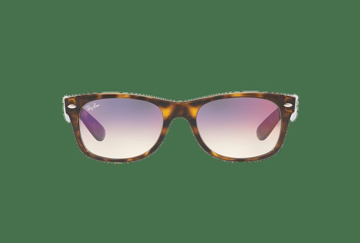 Ray Ban New Wayfarer Havana lente Clear Gradient Violet cod. RB2132 710/S5 55 - Image 12