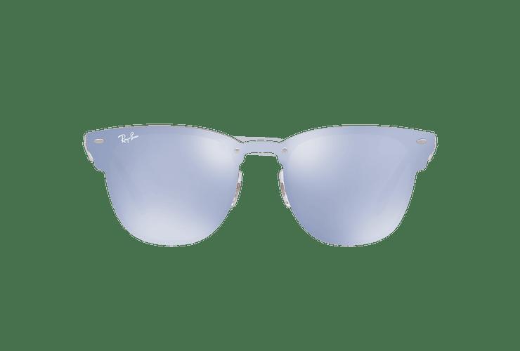 Ray Ban Blaze Clubmaster Brusched Copper lente Blue / Silver Mirror cod. RB3576N 90391U 47 - Image 12