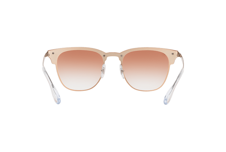 Ray Ban Blaze Clubmaster Brusched Copper lente Clear Gradient Red Mirror cod. RB3576N 9039V0 47 - Image 6