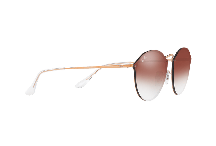 Ray Ban Blaze Round Copper lente Clear Gradient Red Mirror cod. RB3574N 9035V0 59 - Image 10