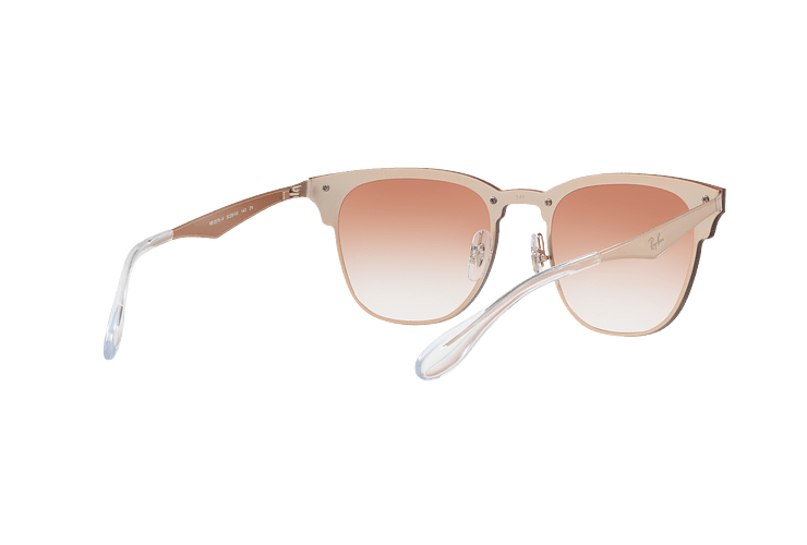 Ray Ban Blaze Clubmaster Brusched Copper lente Clear Gradient Red Mirror cod. RB3576N 9039V0 47 - Image 7