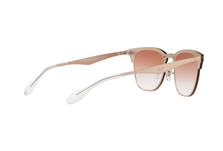 Ray Ban Blaze Clubmaster Brusched Copper lente Clear Gradient Red Mirror cod. RB3576N 9039V0 47 - Image 8