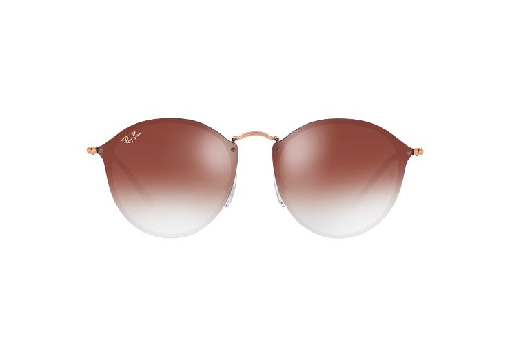 Ray Ban Blaze Round Copper lente Clear Gradient Red Mirror cod. RB3574N 9035V0 59 - Image 12