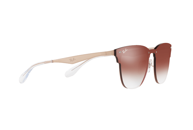 Ray Ban Blaze Clubmaster Brusched Copper lente Clear Gradient Red Mirror cod. RB3576N 9039V0 47 - Image 10