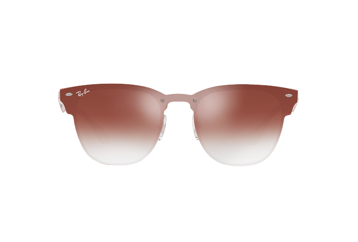 Ray Ban Blaze Clubmaster Brusched Copper lente Clear Gradient Red Mirror cod. RB3576N 9039V0 47 - Image 12