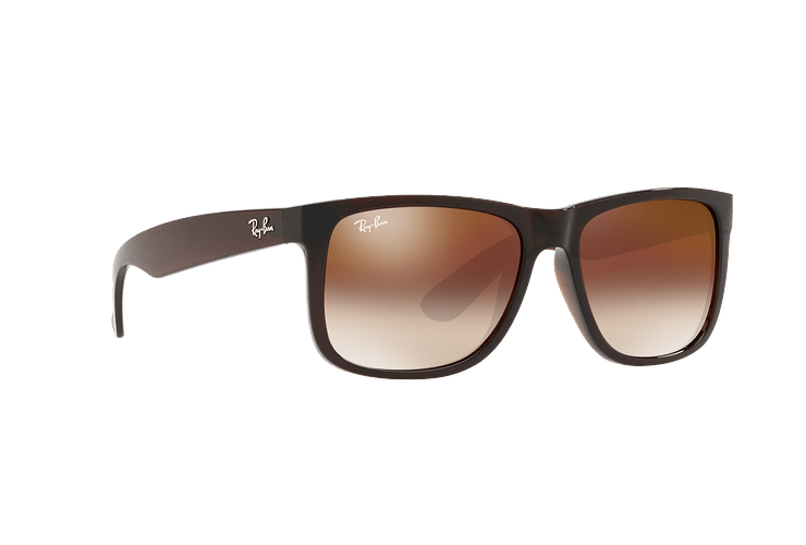 Ray Ban Justin Brown lente Brown / Red Gradient Mirror cod. RB4165 714/S0 54 - Image 11