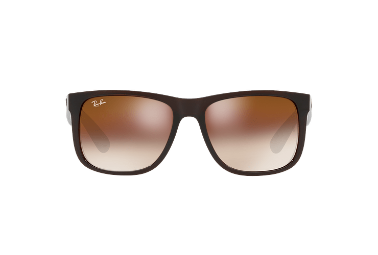 Ray Ban Justin Brown lente Brown / Red Gradient Mirror cod. RB4165 714/S0 54 - Image 12