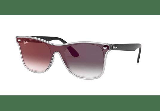 Ray Ban Wafarer RB4440N Blaze Matte Transparent Black lente Gradient Mirror Red cod. RB4440N 6355U0 41