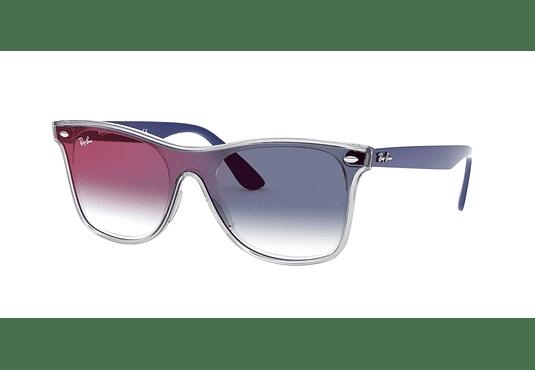 Ray Ban Wafarer RB4440N Blaze Matte Transparent Blue lente Blue Mirror red cod. RB4440N 6356X0 41