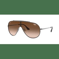 Ray Ban Wings Gunmetal lente Brown Gradient cod. RB3597 004/13 33