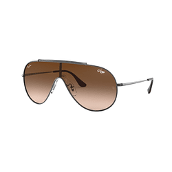 Ray-Ban Wings Gunmetal lente Brown Gradient cod. RB3597 004/13 33