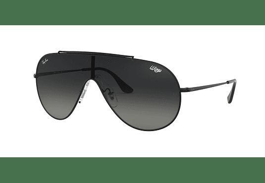 Ray Ban Wings Black lente Dark Grey Gradient cod. RB3597 002/11 33