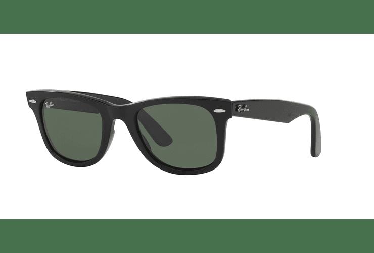 Ray Ban Wayfarer Black lente Crystal Green cod. RB2140 901 54 - Image 1