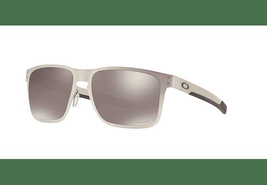 Oakley Holbrook Metal Satin Chrome lente Black Prizm y Polarized cod. OO4123-0955