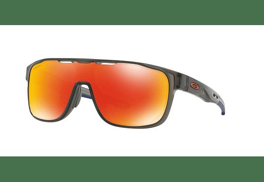 Oakley Crossrange Shield Matte Grey Smoke lente Ruby PRIZM cod. OO9387-0431