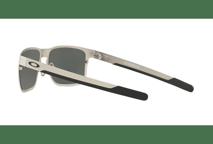 e7ba3016fd Oakley Holbrook Metal Satin Chrome lente Black Prizm y Polarized cod. OO4123-0955  -
