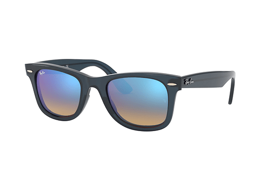 Ray Ban Wayfarer RB4340 Blue lente Mirrow Blue Gradient cod. RB4340 62324O 50