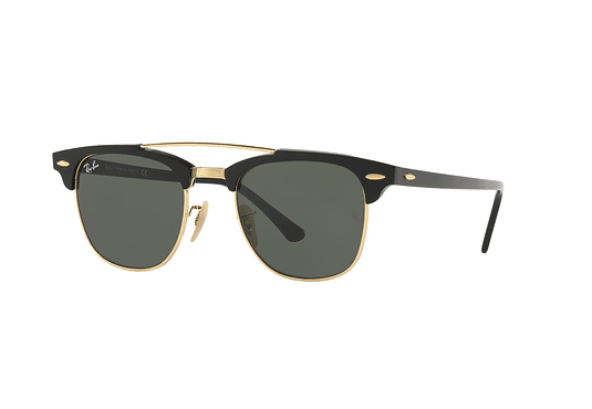 Ray Ban Clubmaster Double Bridge Black lente Green cod. RB3816 901 51
