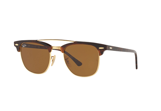 Ray Ban Clubmaster Double Bridge Gold lente Brown cod. RB3816 990/33 51