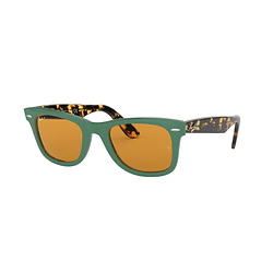 Ray Ban Wayfarer Green lente Yellow cod. RB2140 1240N9 50