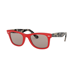 Ray Ban Wayfarer Red lente Grey cod. RB2140 1243P2 50