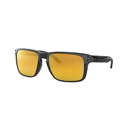 Oakley Holbrook XL Polished Black lente 24K Gold Prizm y Polarized cod. OO9417-1059