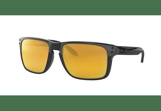 Oakley Holbrook XL Polished Black lente 24K Gold Prizm y Polarized cod. OO9417-1059