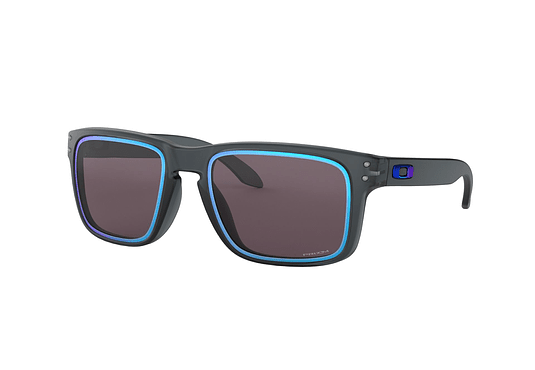Oakley Holbrook Ed. Especial Fire and Ice Matte crystal black lente Grey/sapphire PRIZM cod. OO9102-G955