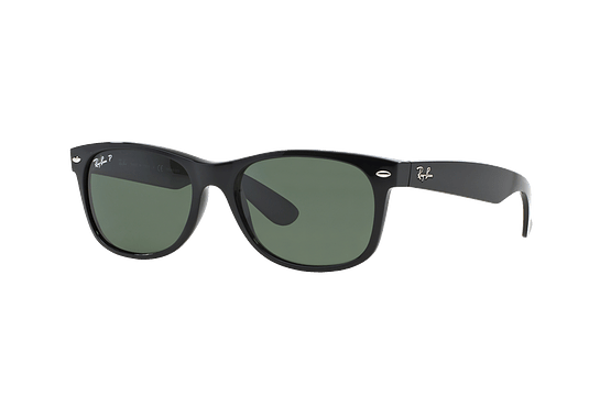 Ray Ban New Wayfarer Black lente Crystal Green Polarized cod. RB2132 901/58 52
