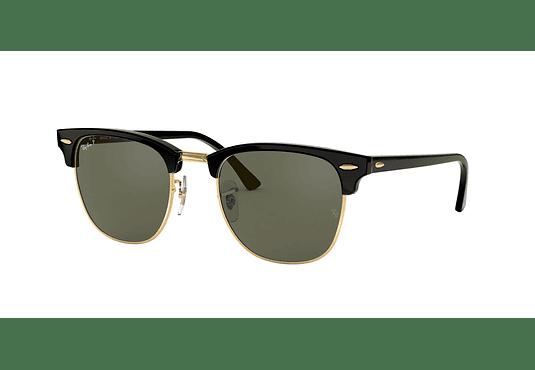 Ray Ban Clubmaster Black lente Crystal Green Polarized cod. RB3016 901/58 51