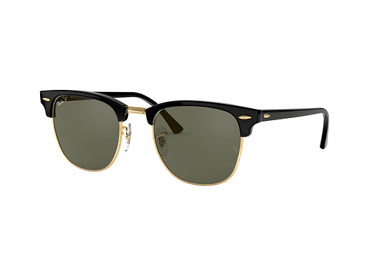 Ray Ban Clubmaster Black lente Crystal Green Polarized cod. RB3016 901/58 51