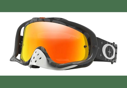 Antiparras Oakley Crowbar MX Ed. Especial Troy Lee Megaburst Black lente Fire Iridium cod. OO7025-470
