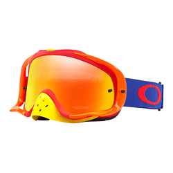 Antiparras Oakley Crowbar MX Flo Blue Red lente Fire Iridium cod. OO7025-480