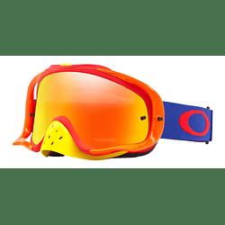 Antiparras Oakley Crowbar MX Flo Blue Red lente Fire Iridium cod. OO7025-480