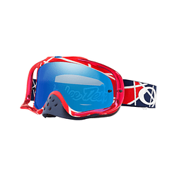 Antiparras Oakley Crowbar MX Ed. Especial Troy Lee Metric Red White lente Black Ice Iridium cod. OO7025-660