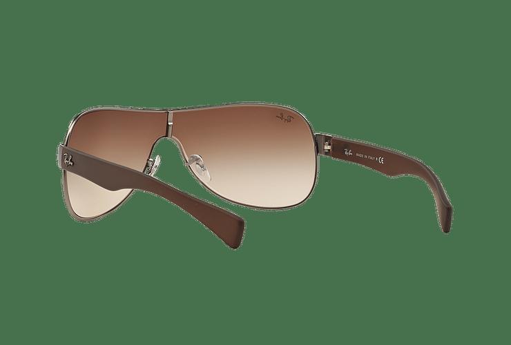 Ray-Ban Monolente RB3471 Matte Gunmetal lente Brown Gradient cod. RB3471 029/13 32 - Image 5
