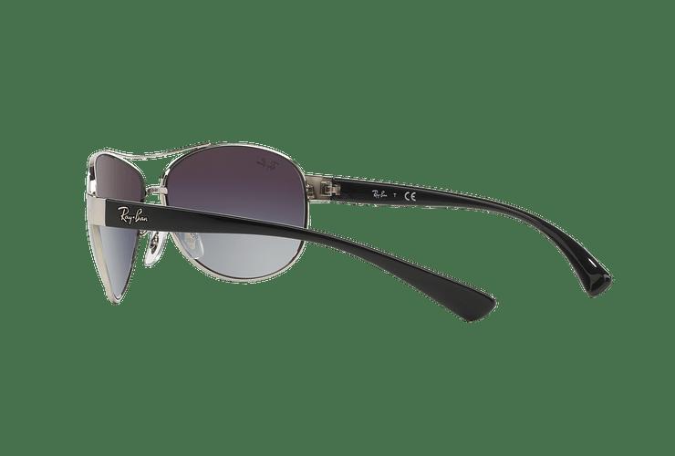 Ray Ban Aviador Ovalado RB3386 Silver lente Grey Gradient cod. RB3386 003/8G 63 - Image 4