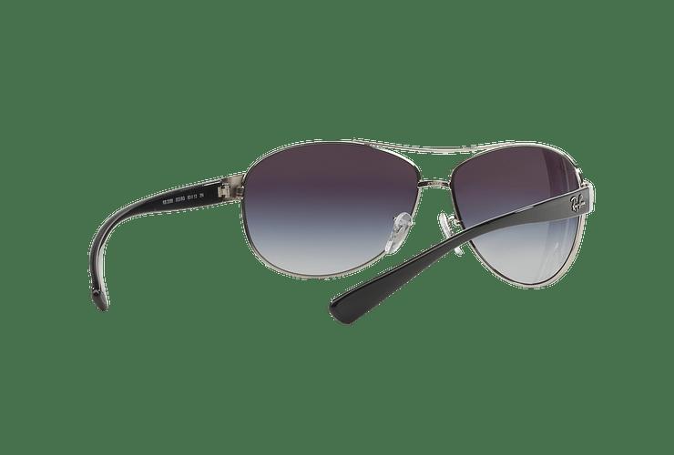 Ray Ban Aviador Ovalado RB3386 Silver lente Grey Gradient cod. RB3386 003/8G 63 - Image 7